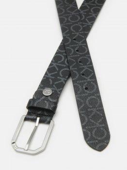 Мужской ремень Calvin Klein Jeans Adj Cut Out Buckle 35Mm Cvmono K50K506510-0GL 90 см Black Mono (8719853533796)