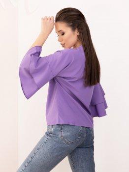 Блузка ISSA PLUS SA-153 Фиолетовая