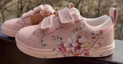 Дитячі кеди для дівчинки на липучках American Club ES 18/21 рожевого кольору
