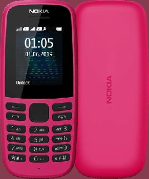 Мобільний телефон Nokia 105 TA-1203 Single Sim 2019 Pink