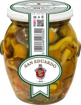 Опята San Eduardo маринованные деликатесные 314 мл (5055448003392)