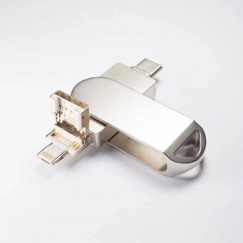 Флешка Flash Drive 256 Gb гб 3в1 Type-C, Lightning, Usb для Apple iPhone, MacBook, Android і ПК