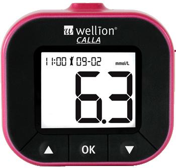 Глюкометр WELLION Calla Light blackberry + тест-полоски 50 шт (WELL903LBUAMM)