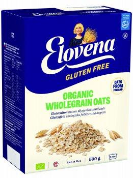 Вівсяні органічні пластівці Elovena без глютену 500 г (6411200111559)