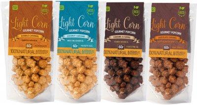 Упаковка попкорну Light Corn Gourmet Асорті 60 г х 4 шт. (4820237290080)