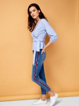 Блузка O'STIN LS1U64-61 Светло-синяя