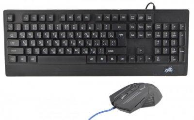 Російська дротова клавіатура + мишка Zeus M710 з підсвічуванням (TRS462)