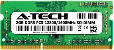 Оперативная память A-Tech 2GB DDR3-1600 (PC3-12800) SODIMM 1Rx8 (AT2G1D3S1600NS8N15V)
