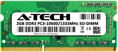 Оперативная память A-Tech 2GB DDR3-1333 (PC3-10600) SODIMM 1Rx8 (AT2G1D3S1333NS8N15V)