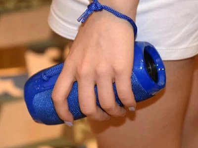 Бездротова портативна Bluetooth стерео колонка T & G 117 BLUE