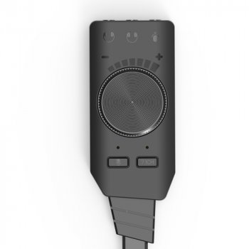 Внешняя звуковая карта USB 7.1 Channel адаптер 3.5mm для наушников и микрофона Plextone GS3 Black