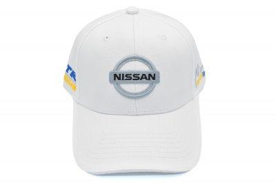 Кепка Sport Line c автомобильным логотипом Nissan белая (S 0919-201)