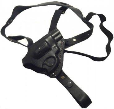 Кобура Grizzly оперативная Револьвер 4 формованная (кожа, чёрная)