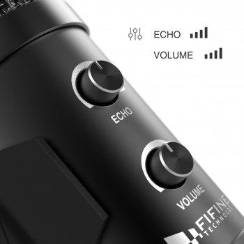 Студійний мікрофон Fifine T058B зі стійкою і поп-фільтром Black