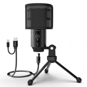 Студійний мікрофон Fifine K683A USB/USB C c штативом