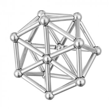 Магнитный конструктор Neo 64 детали Silver (7127)