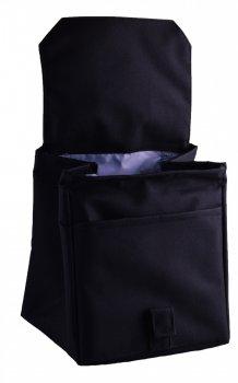 Термо сумка Dolphin Ланч бег з вишивкою My lunch. Чорний