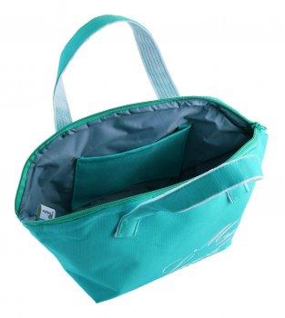 Ланч бег (термо сумка) на блискавці Dolphin. Бірюза