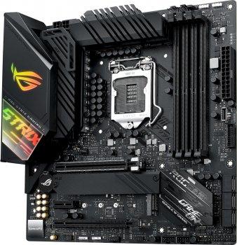 Материнська плата ASUS STRIX_Z490-G_GAM_WI-FI s1200 Z490 4xDDR4 M. 2 HDMI-DP Wi-Fi!!!BT mATX