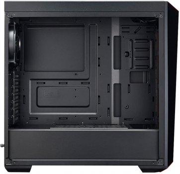 Корпус Cooler Master MasterBox Lite 5 ARGB/Black/Win/SPCC/1*Tempered Glass Panel/3*120mm ARGB Fan + 1*120mm Black Fan