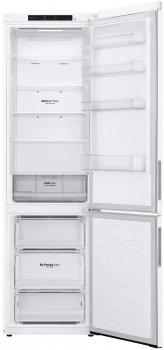 Холодильник LG GA-B509CQZM 203 см, 384 л, А++, Total No Frost, инверторный компрессор, внутрен. диспл., белый