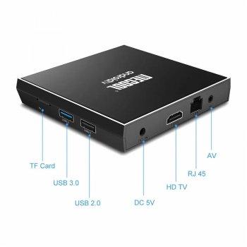 Смарт ТВ Приставка Mecool KM6 2/16 Гб Classic Android 10.0 TV Box Amlogic S905X4 1080P Full HD. Ultra HD (4K) Original Black