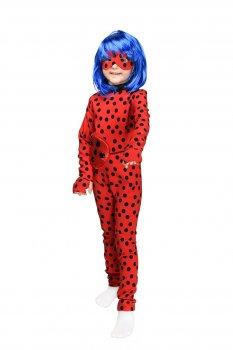 Карнавальный костюм Леди Баг с париком Рост 100-110 см