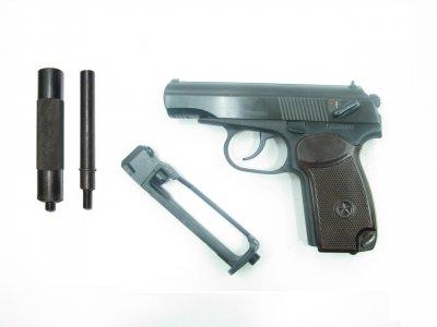 Пневматичний пістолет Байкал МР-654к н 32 серія з імітатором глушника + баллончик со2