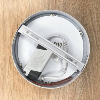 "Накладна кругла LED панель 12W 900LM 6400K 85-265V Обрій ""LEMANSO"" LM1050"