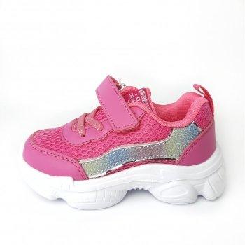 Кросівки American Club BD12/21 рожеві, сріблясті, білі
