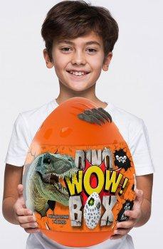 Гра - подарунок - набір для творчості Danko Toys велике яйце з динозаврами 35 см Dino WOW Box DWB-01-01