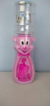 Детский кулер для воды Фунтик Мишка розовый