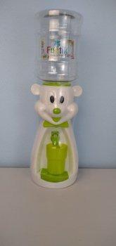 Детский кулер для воды Фунтик Мишка белый/салатовый