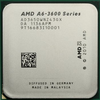 Процесор AMD A6-3650 (FM1/4x2.6GHz/32нм/100Вт/AD3650WNZ43GX) Б/У