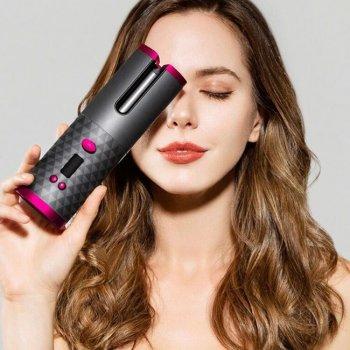Автоматична Плойка для завивки волосся бездротова з автонакручиванием DSP 34W Hair Сurler з usb зарядкою