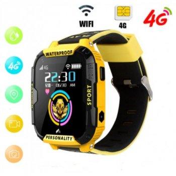 Дитячі смарт годинник Smart Baby Watch K22 розумні годинник телефон smart watch відеодзвінок вологозахист ліхтарик жовті