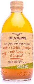 Уксус яблочный De Nigris с медом и куркумой Органический 500 мл (8052049271363)