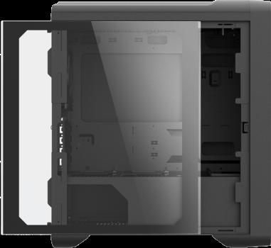 Корпус ZALMAN M3 PLUS Black Mini Tower glass side panel