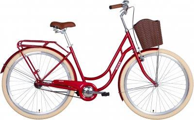 """Велосипед Dorozhnik Rose 28"""" 19"""" 2021 Рубіновий (RET-D-28-010)"""