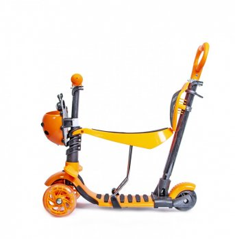 """Самокат Scooter """"Божа корівка"""" 5in1 Orange"""