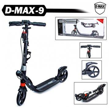 Двоколісний самокат Scale Sports. D-Max-9. Black. Ручне гальмо!