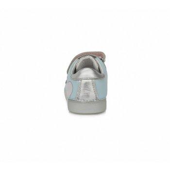 Кросівки для дівчаток DD Step 068-691AL блакитний, сріблястий