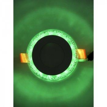 """LED панель """"Бульбашками"""" 3+3W з зеленою підсвіткою 350Lm 4500K 175-265V """"LEMANSO"""" LM906 коло"""