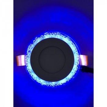 """LED панель """"Бульбашками"""" 3+3W з синім підсвічуванням 350Lm 4500K 175-265V """"LEMANSO"""" LM906 коло"""