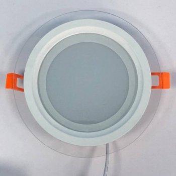 """LED панель 12W 540LM 4500K 85-265V коло+скло Монтана """"LEMANSO"""" LM1032"""
