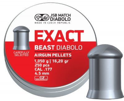 Пули пневматические JSB Diabolo Exact Beast 1.05 гр 250 шт
