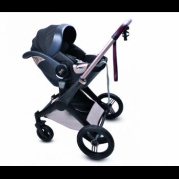 Дитяча Коляска 4в1 Shom Roberto Verino Elegance Midnight Black (Люлька + Прогулянка + Автокрісло + База) (від 0 до 3 років) Бежевий
