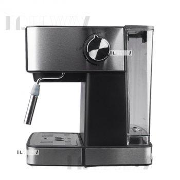 Кофеварка рожковая для дома электрическая кофемашина эспрессо полуавтоматическая 1.6л DSP 850W Черная (KA3028)