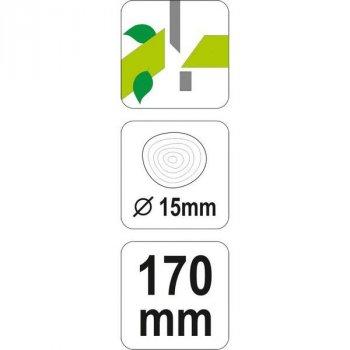 Ножиці садові FLO Ø15мм 170/50мм (99180)