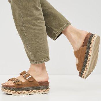 Сабо XTI Suede Ladies Sandals 49052-109 Песочные